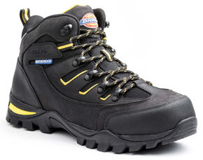 Dickies Men's Sierra HIking Work Boots - Steel Toe, Black, hi-res