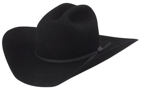 Larry Mahan 4X Go Round Fur Felt Cowboy Hat, Black, hi-res