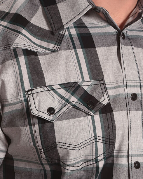 Moonshine Spirit Men's Peavy Plaid Long Sleeve Western Shirt, White, hi-res