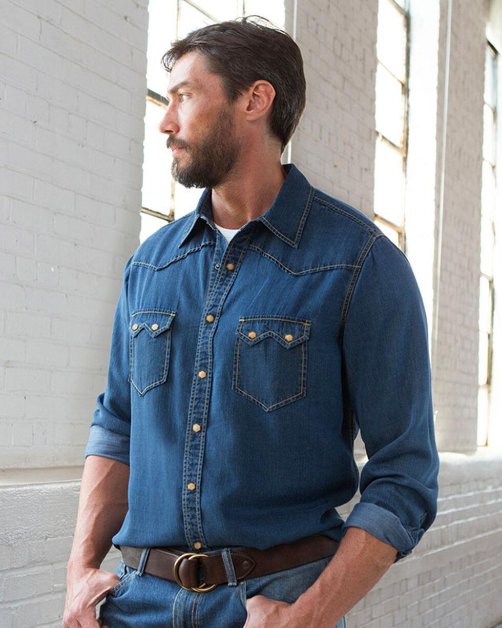 Ryan Michael Men's Indigo Tencel Shirt , Indigo, hi-res