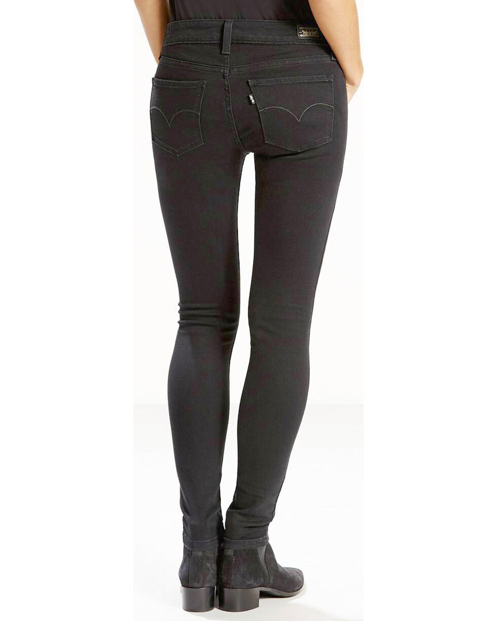 Levi's Women's Soft Black 535 Super Skinny Jeans , Black, hi-res