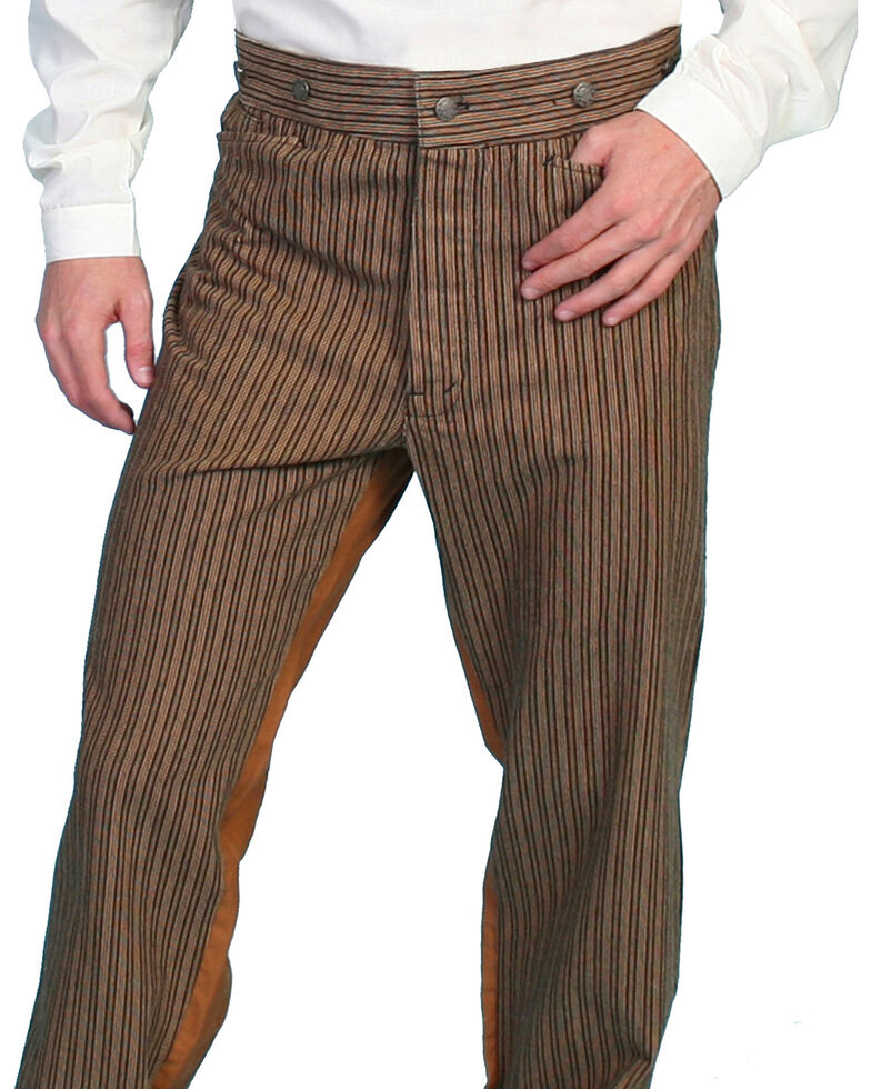 Wahmaker by Scully Cotton Saddle Cut Stripe Pants - Tall, Taupe, hi-res