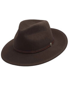 Stetson Men's Mink Cromwell Downturn Wool Felt Western Hat, Brown, hi-res