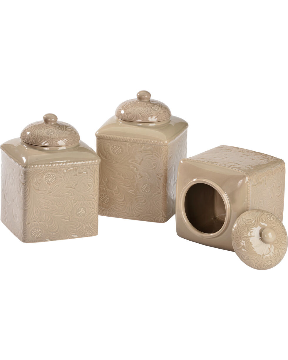 HiEnd Accents Savannah Taupe Canister Set, Taupe, hi-res