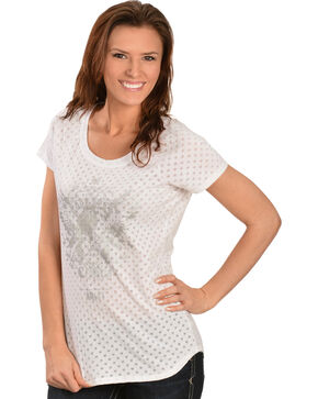 Ariat Women's Rockstar Tee, White, hi-res