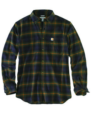 Carhartt Men's Rugged Flex Hamilton Plaid Shirt , Olive, hi-res