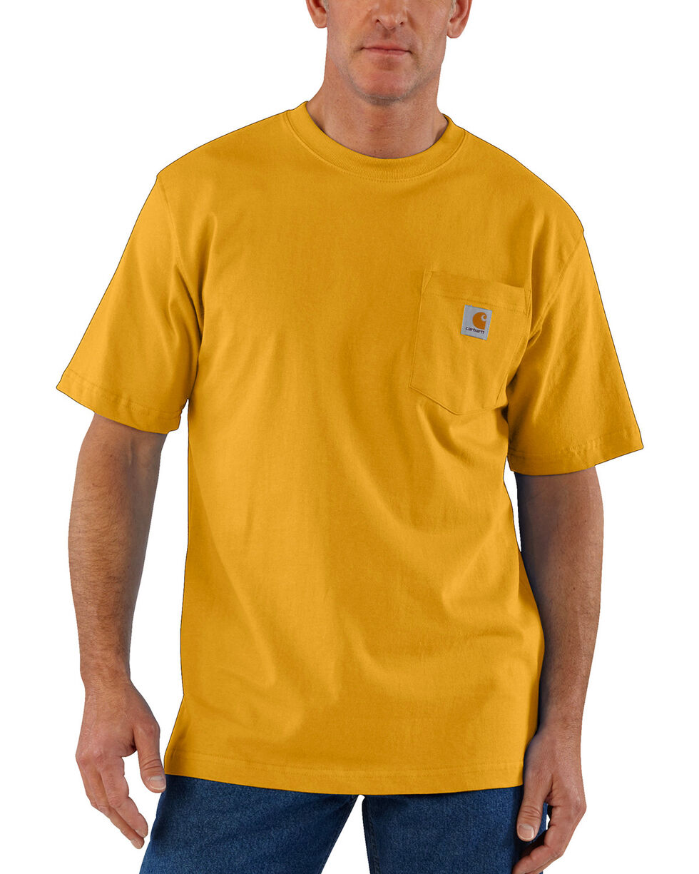 Carhartt Men's Workwear Pocket T-Shirt, Gold, hi-res
