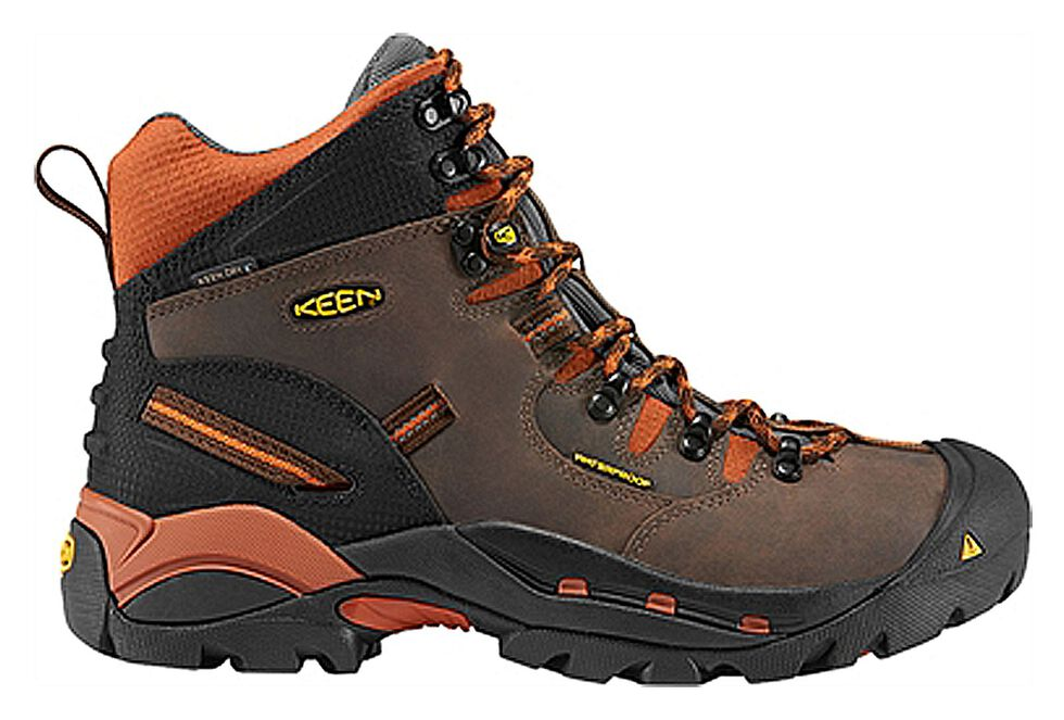 Keen Men's Pittsburgh Mid Waterproof Boots - Round Toe, Brown, hi-res