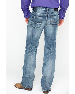 Rock & Roll Cowboy Men's Pistol Light Vintage Straight Jeans , Light Blue, hi-res