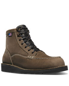 Danner Men's Bull Run Lace-Up Work Boots - Soft Toe, Silver, hi-res
