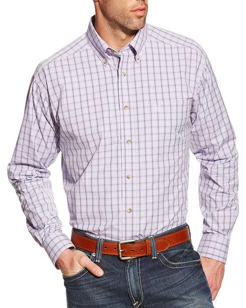 Ariat Men's Odell Long Sleeve Performance Shirt, Lavender, hi-res