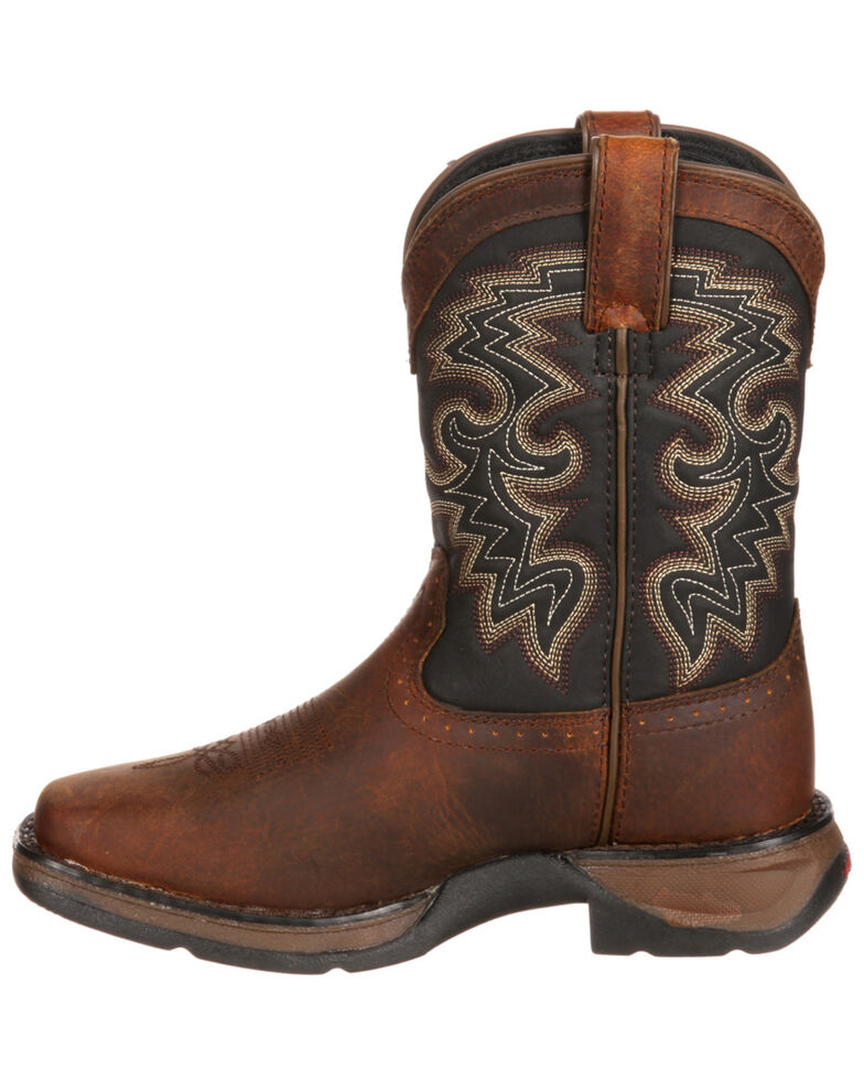 Durango Toddler Boys' Raindrop Western Boots - Square Toe, Tan, hi-res