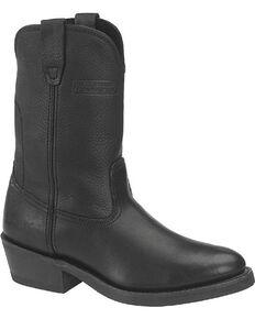 """Ad Tec Men's Ranch Wellington 11"""" Work Boots, Black, hi-res"""
