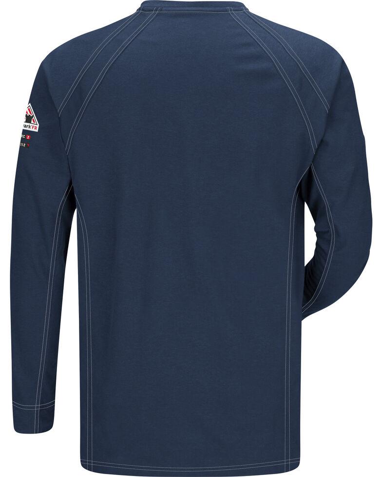 Bulwark Men's Dark Blue iQ Series Flame Resistant Henley Shirt - Big & Tall, Dark Blue, hi-res