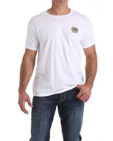 Cinch Men's White Crest Logo Graphic T-Shirt , White, hi-res