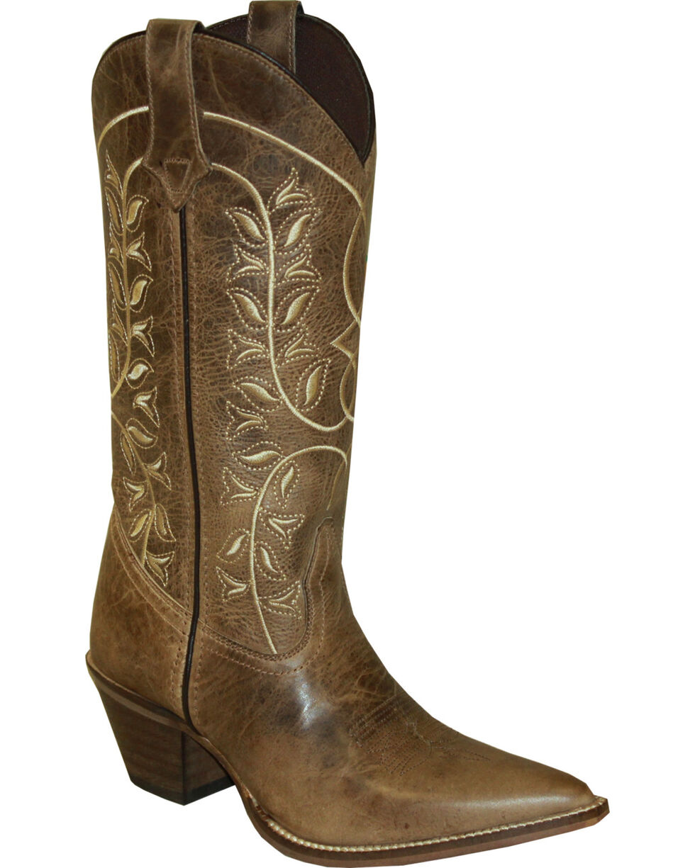 "Rawhide by Abilene 12"" Embroidered Classic Western Boots - Pointed Toe, Brown, hi-res"