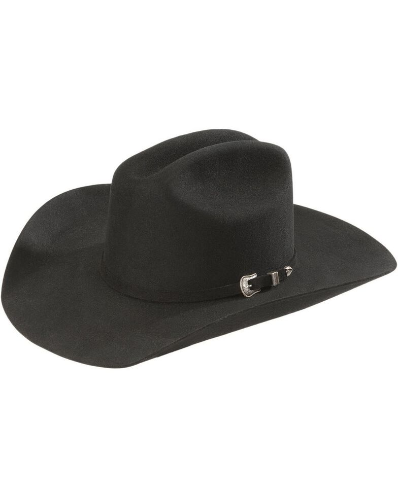 Resistol Squared Challenger 5X Fur Felt Cowboy Hat, Black, hi-res
