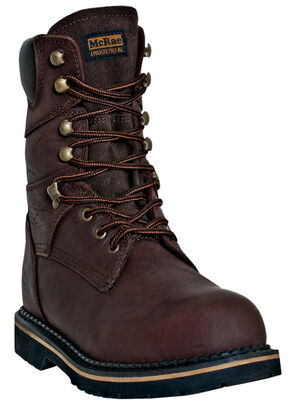 "McRae Men's Ruff Rider 8"" Welted Work Boots, Dark Brown, hi-res"