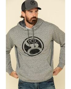 HOOey Men's Grey Roughy 2.0 Lock-Up Graphic Hooded Sweatshirt , Grey, hi-res