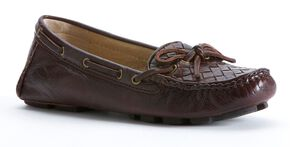 Frye Women's Reagan Woven Shoes - Round Toe, Dark Brown, hi-res