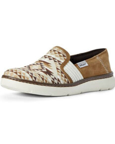 Ariat Women's Aztec Ryder Shoes, Brown, hi-res
