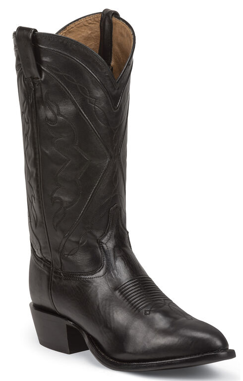 Tony Lama Men's Ranch Jersey El Paso Cowboy Boots - Medium Toe, Black, hi-res