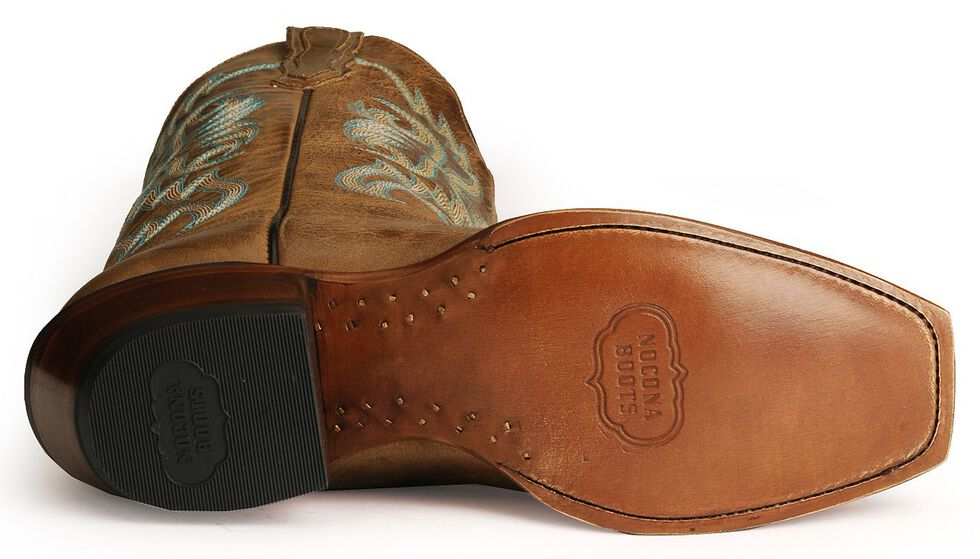 Nocona Vargas Boots - Square Toe, Tan, hi-res