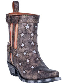 Dan Post Women's Star Struck Fashion Booties - Snip Toe, Black, hi-res
