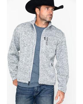 Ariat Men's Caldwell Full Zip Sweater Jacket, Heather Grey, hi-res