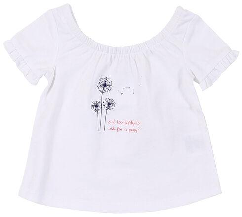 Wrangler Infant Girls' White Screen Print Short Sleeve Shirt, White, hi-res