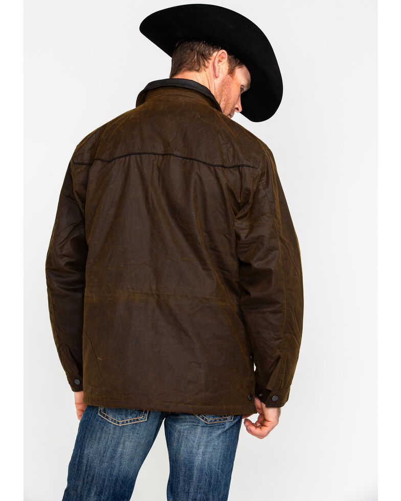 Outback Trading Co. Oilskin Rancher Jacket, Bronze, hi-res