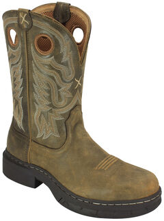 Twisted X Bomber Brown EZ Rider Work Boots - Steel Toe , Bomber, hi-res