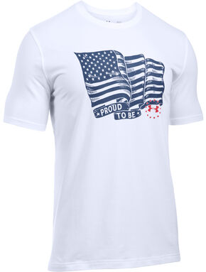 Under Armour Freedom Men's Proud American Tactical Graphic T-Shirt, White, hi-res
