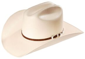 Stallion By Stetson Men's Maximo 100X Straw Western Hat, Natural, hi-res