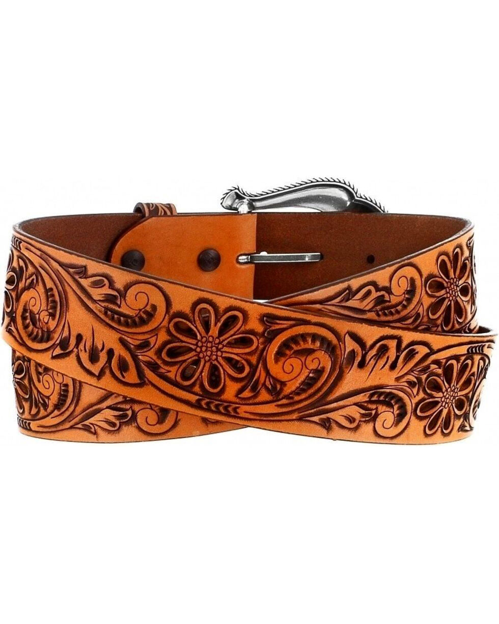 Leegin Women's Graceful Bloom Belt, Brown, hi-res