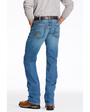 Ariat Men's Jasper M5 Edge Stackable Slim Straight Work Jeans , Blue, hi-res