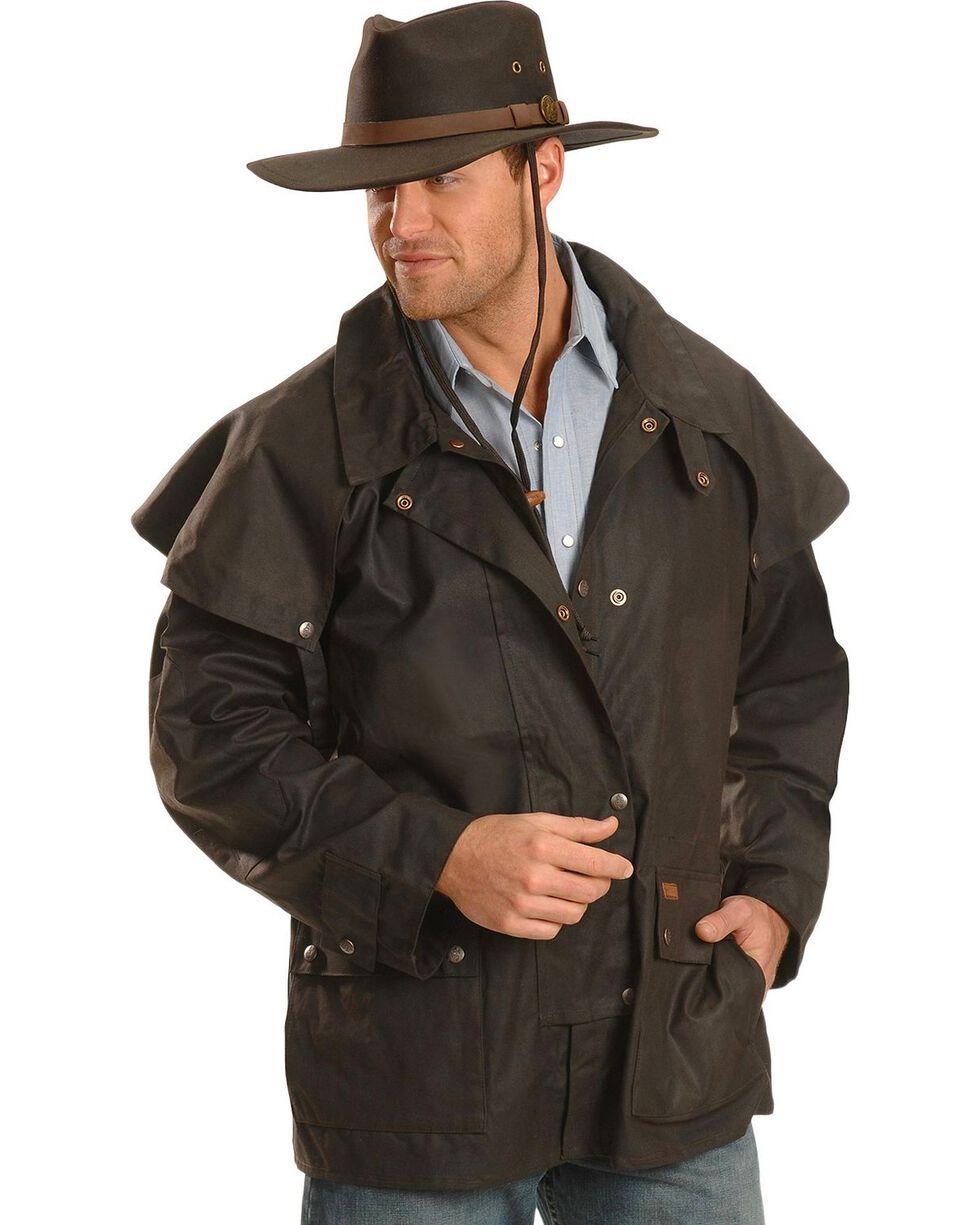 Outback Trading Co. Short Oilskin Duster, Brown, hi-res