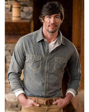 Ryan Michael Men's Spruce Paisley Jacquard Shirt , Steel Blue, hi-res