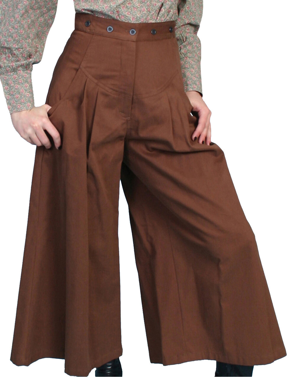 Rangewear by Scully Brushed Twill Riding Pants, Brown, hi-res