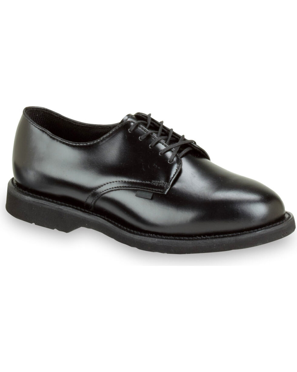 Thorogood Women's American Heritage Postal Certified High Shine Oxfords, Black, hi-res