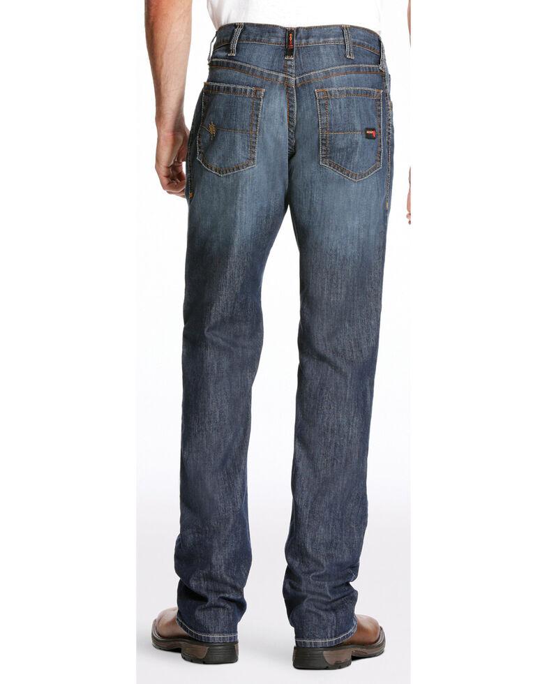 Ariat Men's FR M4 Inherent Basic Low Rise Bootcut Jeans, Dark Blue, hi-res