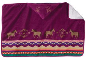 Pendleton Painted Pony Hooded Towel, Purple, hi-res