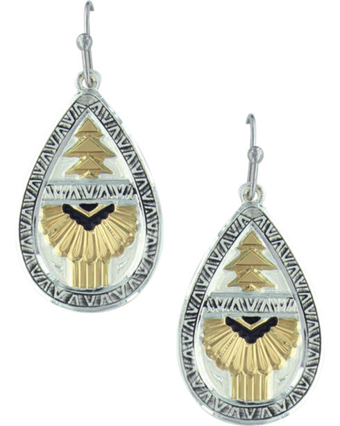 Montana Silversmiths Women's Silver Southern Rays Of Light Earrings , Silver, hi-res