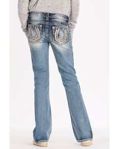 6848e40a606c Miss Me Girls Lucky Horseshoe Boot Cut Jeans