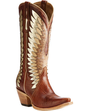 Ariat Women's Cognac Goldcrest Leather Boots - Snip Toe , Cognac, hi-res