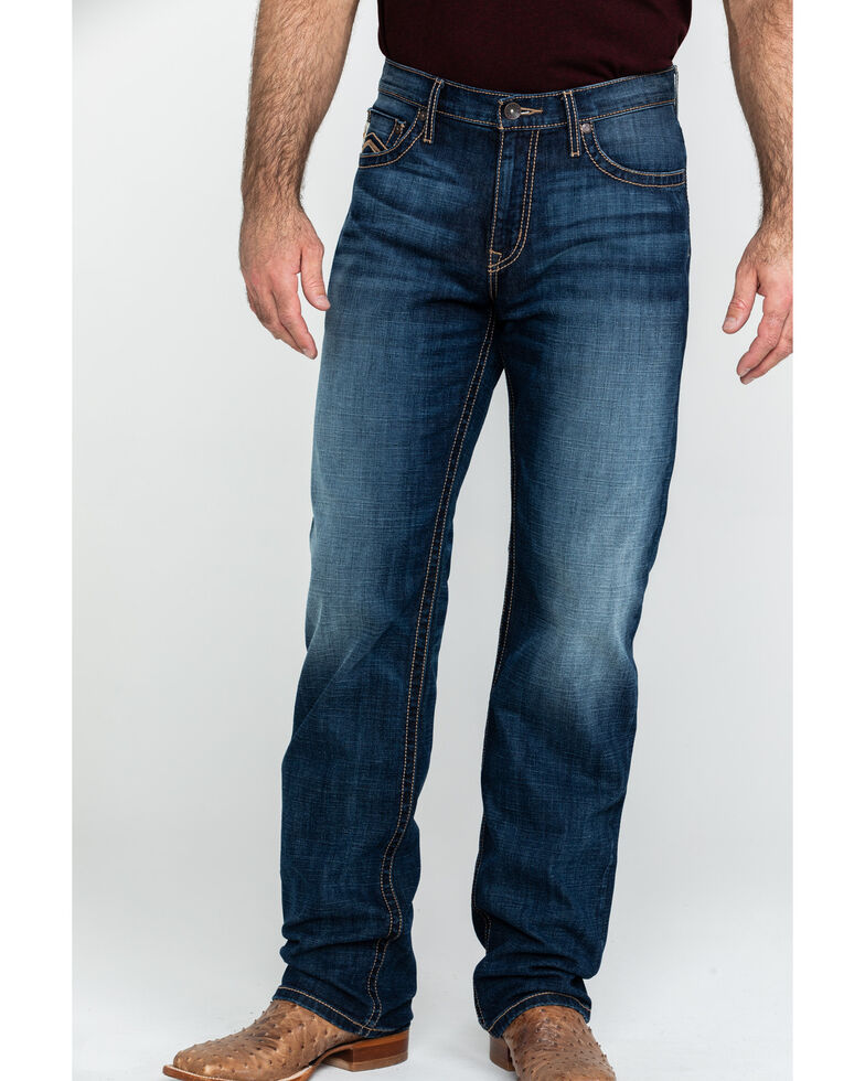 Cinch Men's Grant Dark Stone Mid Rise Boot Jeans , Indigo, hi-res