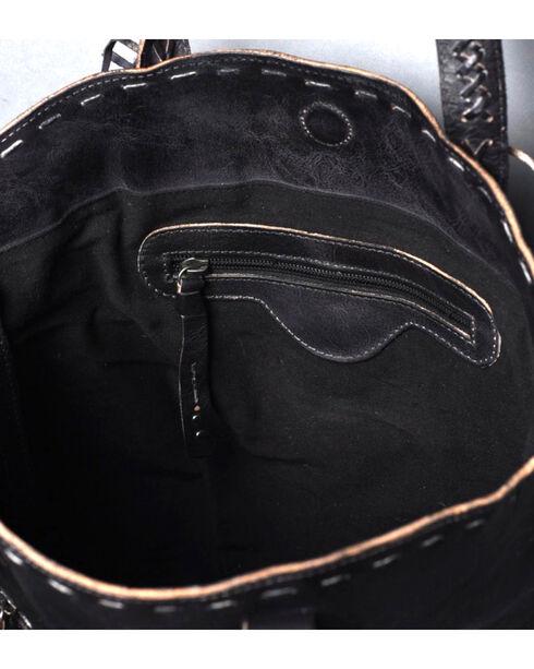 Bed Stu Women's Barra Black Rustic Tote, Black, hi-res