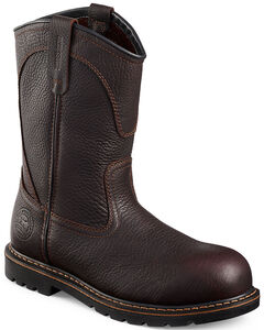 Red Wing Irish Setter Farmington Pull-On Work Boots - Aluminum Toe, Brown, hi-res