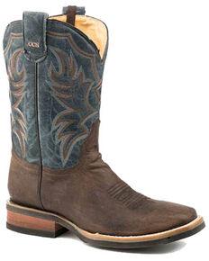 Roper Men's Marksman Western Boots - Square Toe, Brown, hi-res
