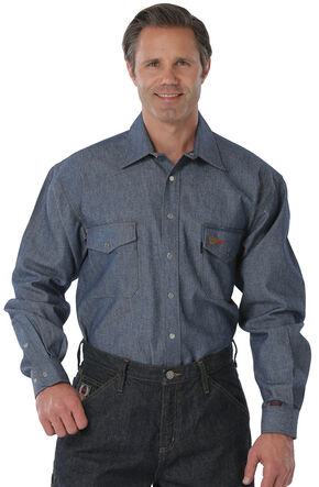 Cinch WRX Flame-Resistant Denim Work Shirt, Denim, hi-res